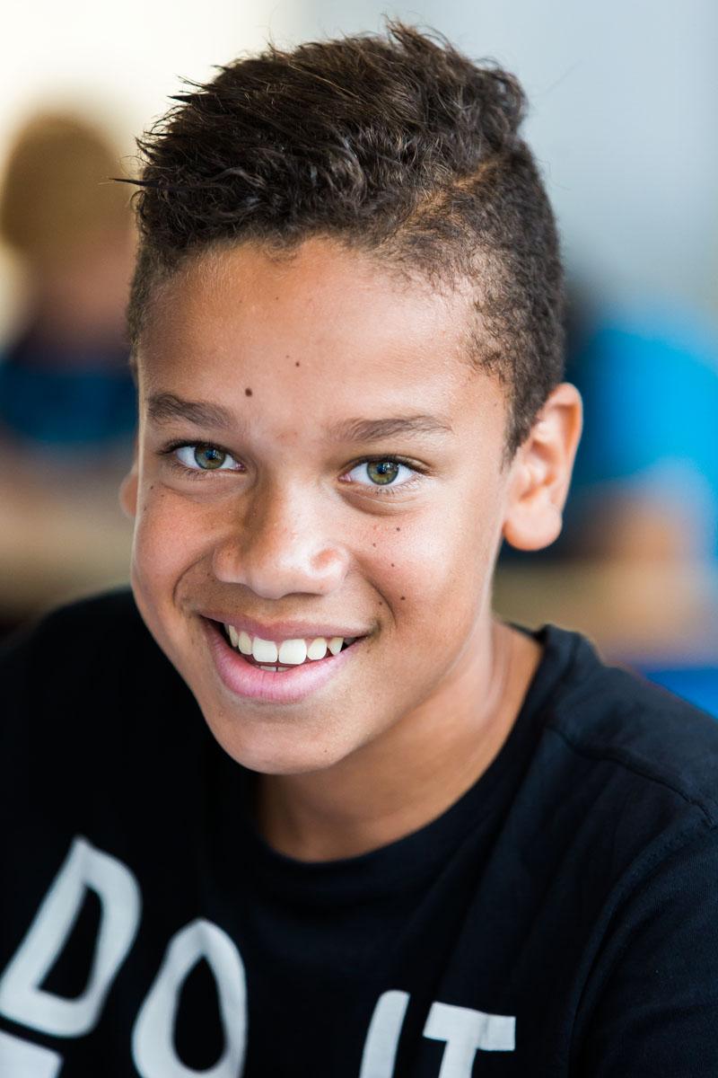 Denzel, leerling sportklas HBM