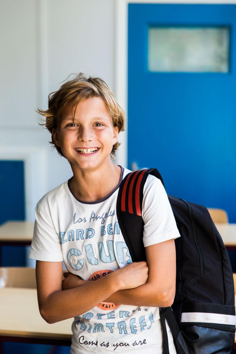 Max, leerling sportklas HBM